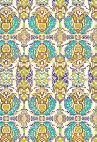 Mirrored tribal pattern (print)