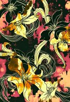 Tropical flower pattern (print)