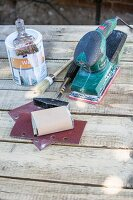 Craft utensils for making a coffee table out of euro pallets