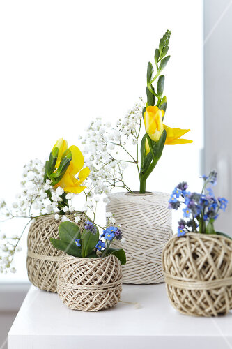 Great decorating ideas using string, rope and cord
