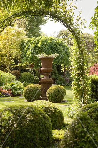 Romantic garden in Limburg, Belgium