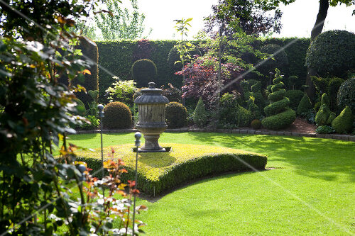 Lush garden in the Netherlands