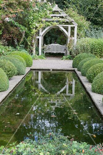 Extensive garden surrounding a 16th century house