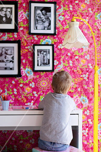 Colour defines this child's room