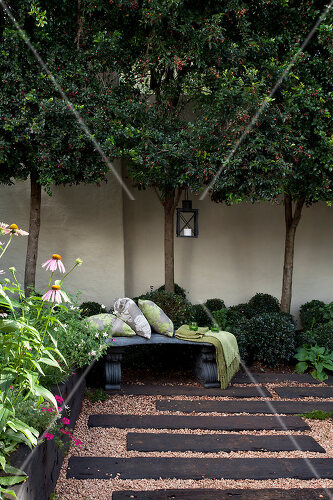 Make an all season garden using existing plants and inexpensive additions