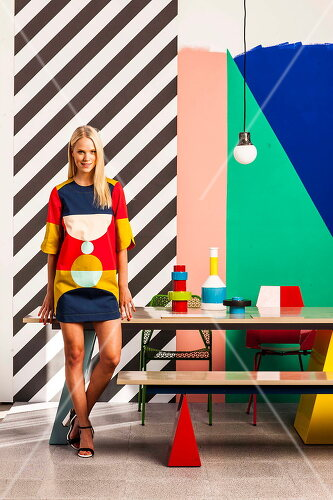 Einrichtungs-Inspirationen mit kontrastvollen Farben