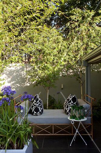 Contemporary split-level garden in Parkmore, Johannesburg