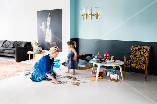 A townhouse in Stockholm full of colour for a young family