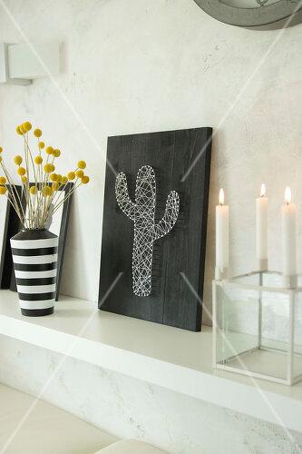 DIY art using nails and string