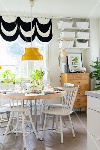 Eclectic interior in Swedish home