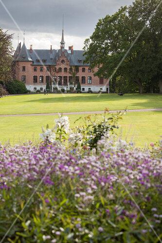 Castle garden in Helsingborg, Sweden