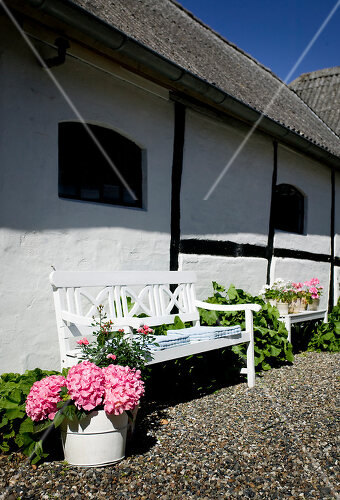 Garden on a former farm in Denmark