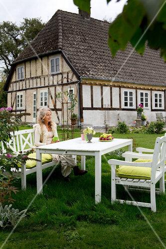 Typical farm garden in Denmark