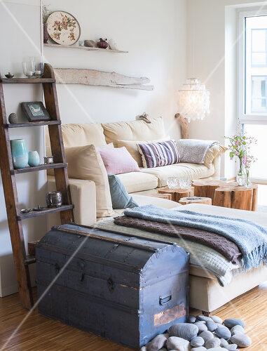 Das Zuhause von Tina Firk in Hamburg ist inspiriert von Skandinavischen Stränden