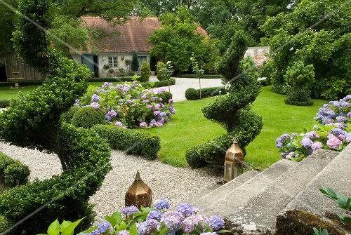 Stately garden of a Bavarian castle