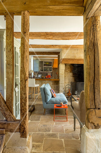 A rural home from the 18th century is renovated in Normandy
