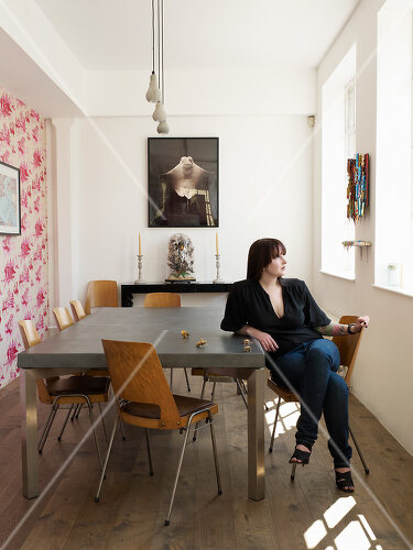 An artist's home and studio in East London