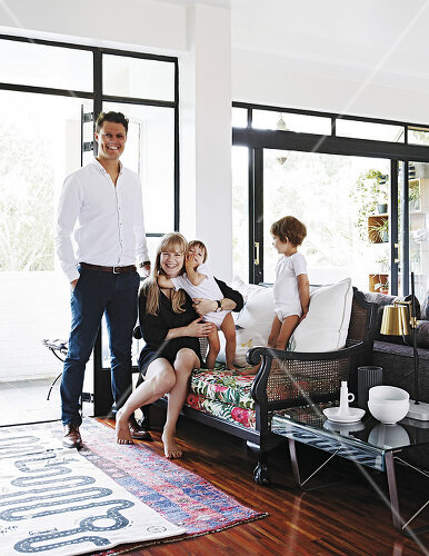 Family finds ample space in a small apartment in Johannesburg