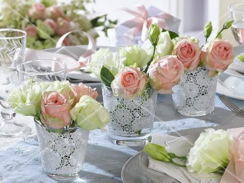 Как украсить стол на свадьбу своими руками