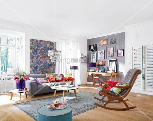 10310863 RM Vorher Nachher Gestaltung Dekorativ Gestaltetes Wohnzimmer
