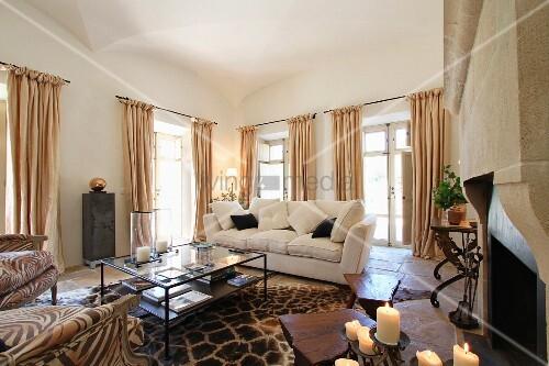 Afrikalook Im Mediterranem Wohnzimmer Mit Gewölbedecke ? Living4media 18 Designs Wohnzimmer Mit Gewolbe Decke