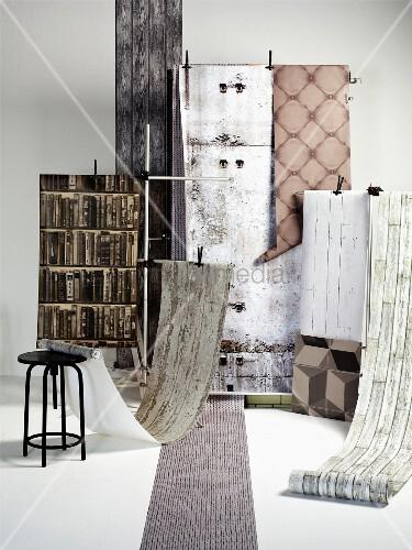auswahl an wandtapeten bild kaufen living4media. Black Bedroom Furniture Sets. Home Design Ideas