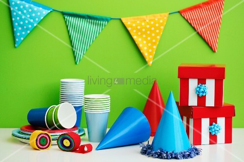 Utensilien f r die kinderparty bild kaufen living4media for Party utensilien