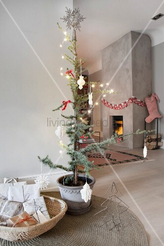 Chimney Christmas Decorations simple scandinavian interior with fireplace in concrete chimney