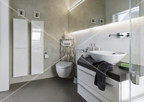 SpielkUche Holz Mit Waschmaschine ~ Waschtisch mit Aufsatzbecken Eck Toilette und Designer Heizkoerper in
