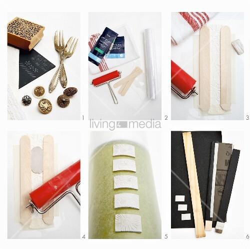 fotostrecke mit bastelanleitung f r gepr gten silberschmuck bild kaufen living4media. Black Bedroom Furniture Sets. Home Design Ideas