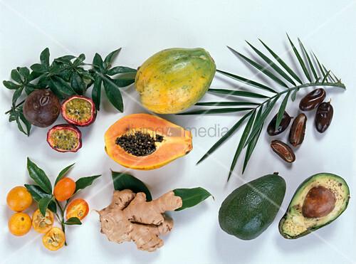 fr chtetableau passionsfrucht papaya bild kaufen. Black Bedroom Furniture Sets. Home Design Ideas