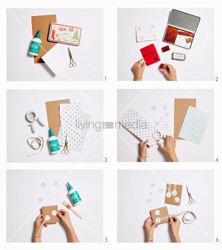 Anleitung f r verschiedene selbstgebastelte for Anleitung weihnachtskarten