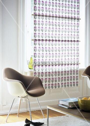 selbstgemachter vorhang im wohnzimmer bild kaufen. Black Bedroom Furniture Sets. Home Design Ideas