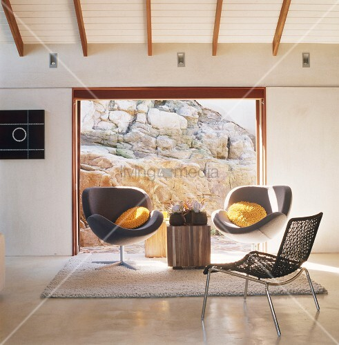 zwei sessel bild kaufen living4media. Black Bedroom Furniture Sets. Home Design Ideas