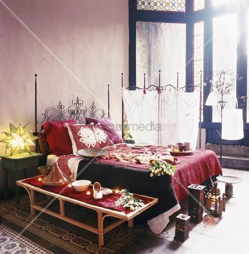 orientalisches schlafzimmer gestalten - wie im märchen wohnen, Schlafzimmer ideen