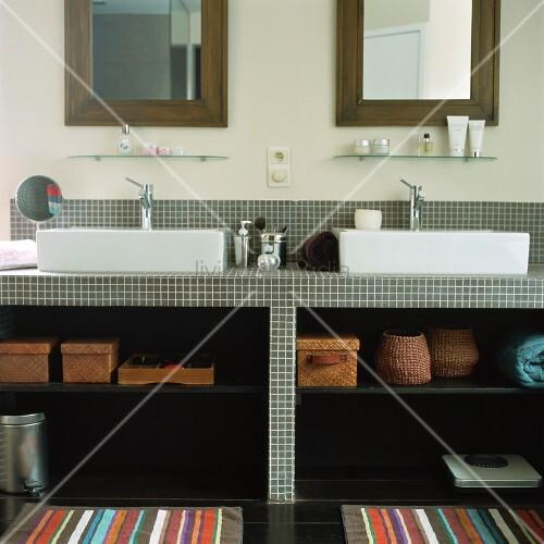 waschtisch offen bild kaufen living4media. Black Bedroom Furniture Sets. Home Design Ideas