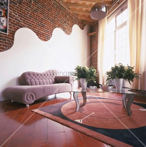 Ziegelwand Wohnzimmer Progo