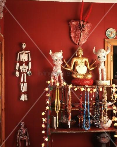 Halsketten buddha figur deko figuren deko sklette auf for Buddha figuren deko