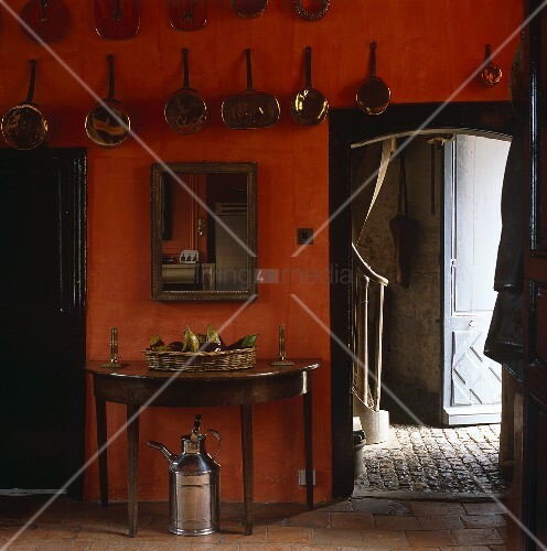 Kitchens with burnt orange wall color