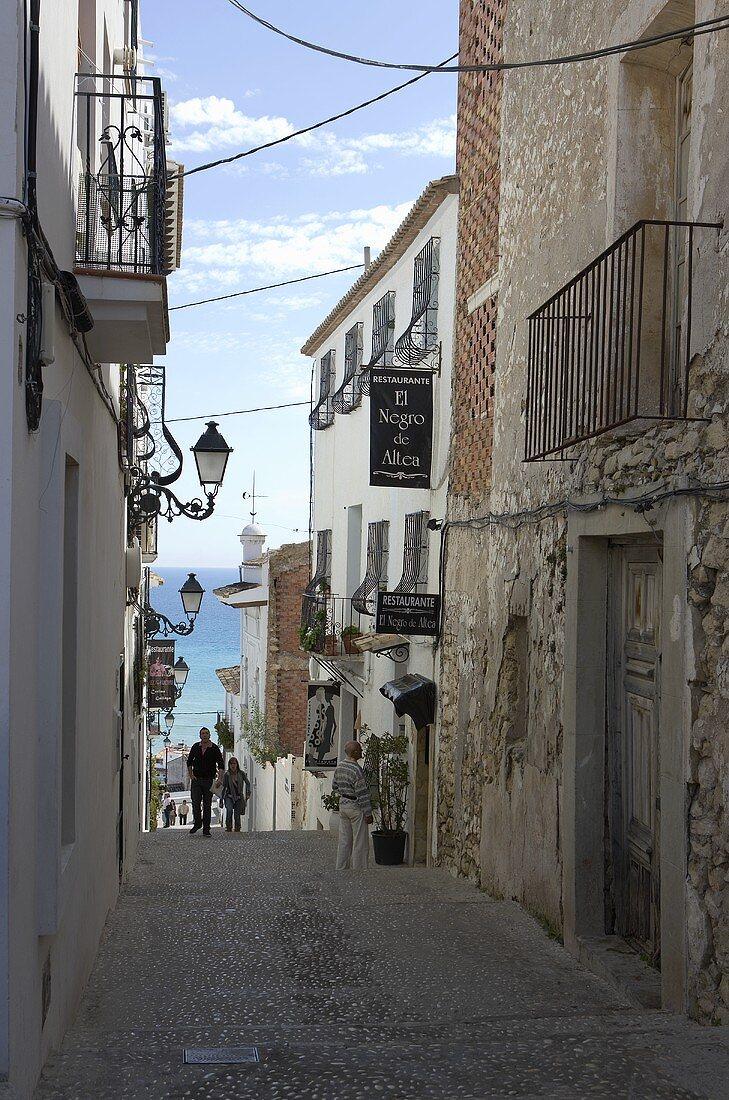 Old town of Altea (Spain)