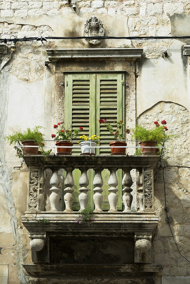 A balcony of Diocletian palace, Split