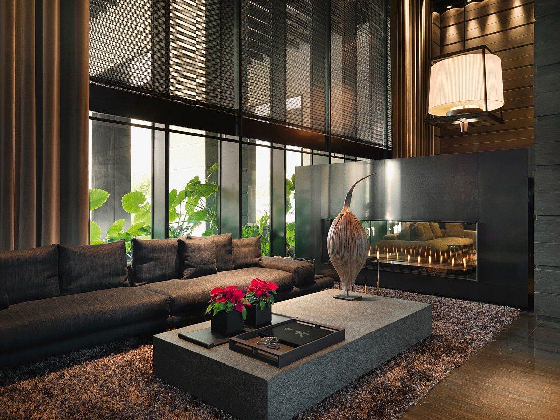 Dark Living Room With Carpet, Dark Carpet Living Room