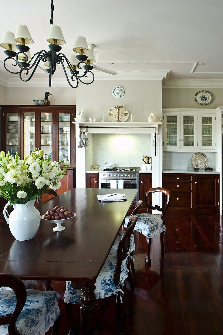 Long Dining Table And Wooden Chairs With Buy Image 11152365 Living4media