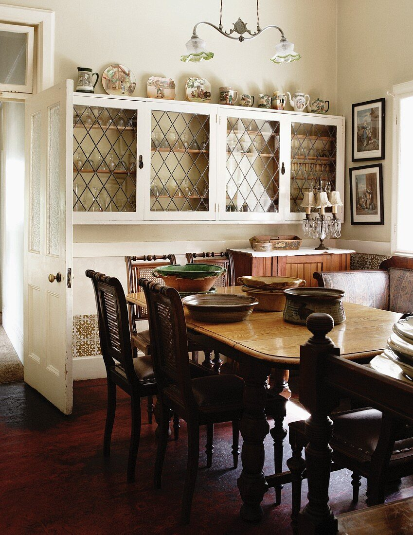 Dining Table And Antique Chairs Across Buy Image 11176373 Living4media