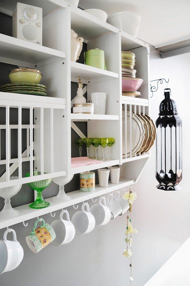 Crockery On Open Fronted Kitchen Shelves Buy Image 11222143 Living4media