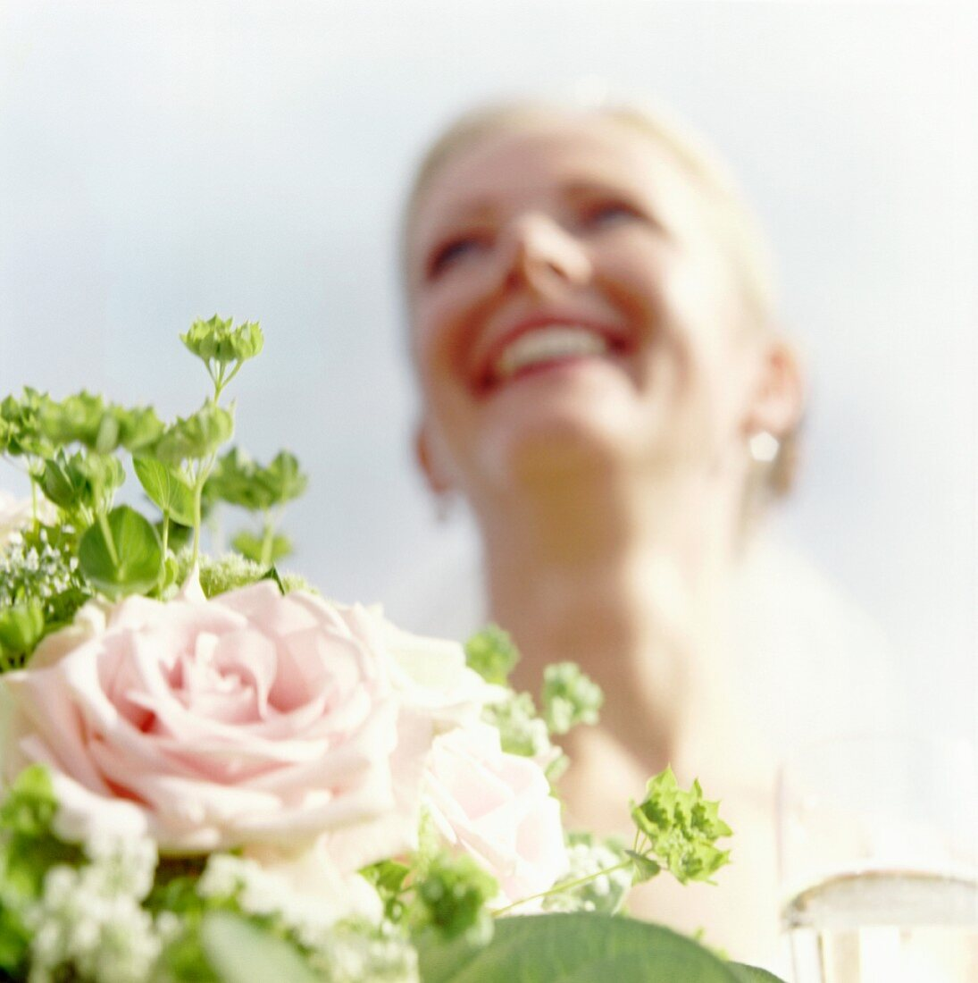 A Bride with Bridal Flowers.