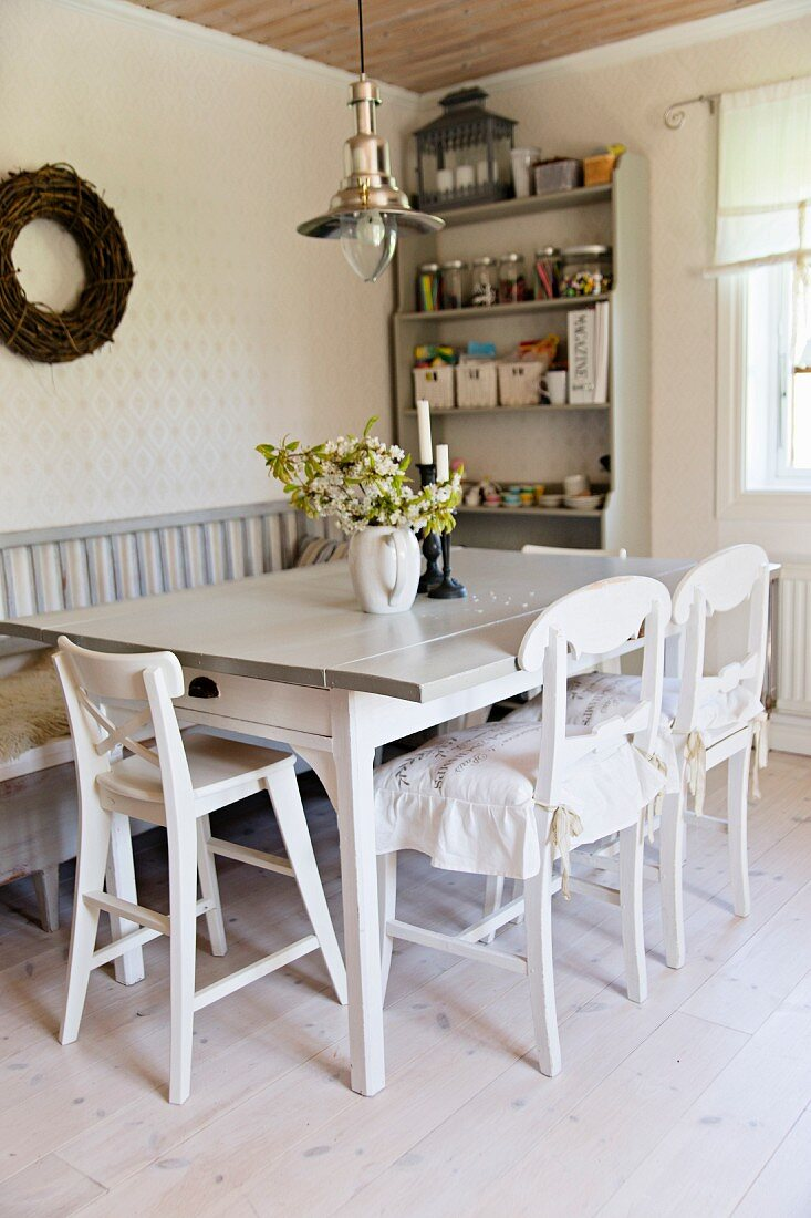 Dining Table White Kitchen Chairs Buy Image 11269305 Living4media