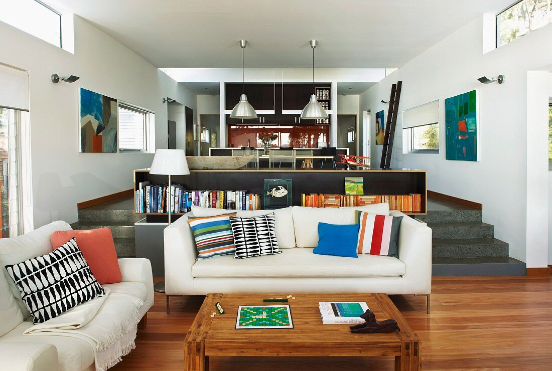 Picture of: Open Plan Split Level Interior With Buy Image 11276949 Living4media