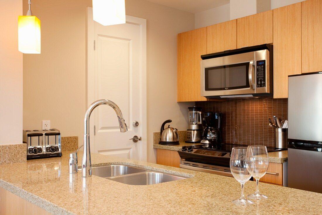 Kitchen Interior of the Luxury Resort Watermark Beach Resort in Osoyoos British Columbia