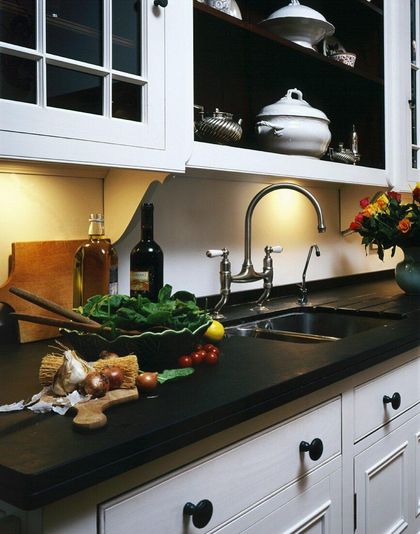 Food Preparation On Work Surface Of Buy Image 11028035 Living4media